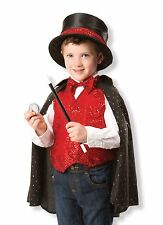 New Melissa & Doug Magician Role Play Fancy Dress Costume Outfit Set [3-6]