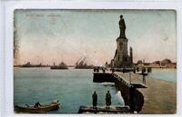 (Ld4470-100) Port Said, Lesseps Statue, 1907  Used G
