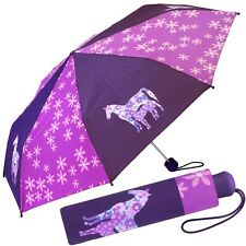 ESPRIT Mädchen-Schirm Kinder-Regenschirm (Pferde/Fohlen/Horse) Taschenschirm NEU