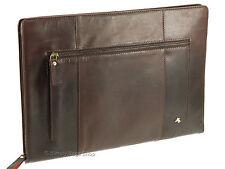 Visconti Buffalo Leather Zip Around Folio A4 Document Holder Folder Case - Ml26 Brown
