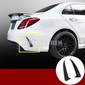 Carbon Fiber Look Rear Bumper Air Vent Cover For Benz C Class W205 C43 C63 AMG
