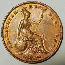 1855 Penny - Queen Victoria - Great Britain - near Extremely Fine condition