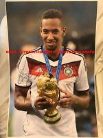 JEROME BOATENG GERMANY WORLD CUP 2014 WINNER TROPHY BAYERN SIGNED 12x18 REPRINT