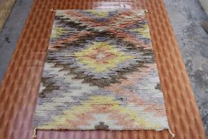 Navajo Wool Floral Handmade Rugs Carpet 4'x6' Moroccan Pastel Color Living Room
