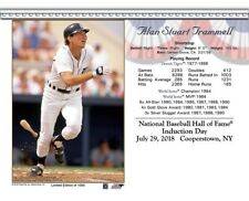 ALAN TRAMMELL DETROIT TIGERS 8X10 2018 HALL OF FAME INDUCTION DAY CARD