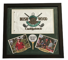 CADDYSHACK FLAG FRAMED COLLAGE UN SIGNED BUSHWOOD PIN CHASE MURRAY