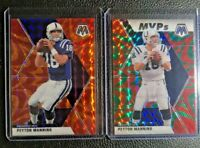 2020 Panini Mosaic Green/ Orange Reactive Prizm MVPs Peyton Manning Colts (2)