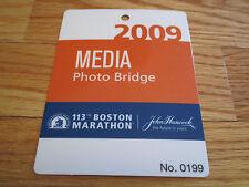 113th Boston Marathon April 2009 Photo Bridge Laminated Media Badge
