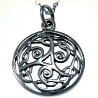 """Sterling Silver Celtic Pendant Necklace with 18"""" Chain & Gift Box"""