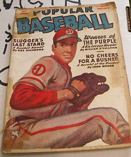 Spring 1950 Popular Baseball Pulp- John Wilson, William O'Sullivan, Roe Richmond