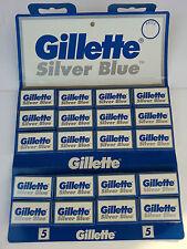 100 Gillette Silver Blue Double Edge Razor Blades