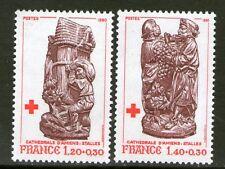 TIMBRES 2116-2117 NEUF XX LUXE - CROIX ROUGE - STALLES DE LA CATHEDRALE D'AMIENS