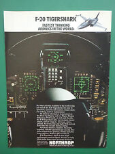 6/1984 PUB NORTHROP F-20 TIGERSHARK US AIR FORCE USAF AVIONICS COCKPIT AD