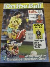 1989/1990 Norwich City: On The Ball - Issue 06 [March] - Official Club Issued Ma