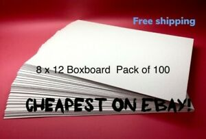 Boxboard 8 x 12 inch 700GSM 1.2mm thick Backing Boards Recycled - Pack of 100