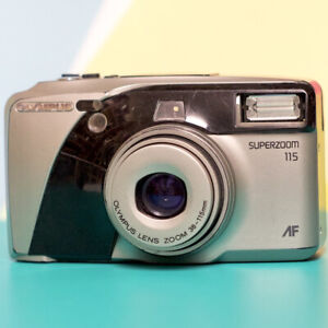 Olympus Superzoom 115 AF 35mm film Camera Silver  Retro Lomo Retro Point & Shoot