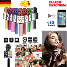 WS858 Bluetooth Microphone Karaoke Mikrofon MP3 Player Lautsprecher Handheld YO