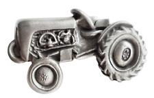 Vintage Traktor Zinn Brosche Anstecker
