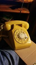 Vintage 1983 Yellow Rotary Table Phone