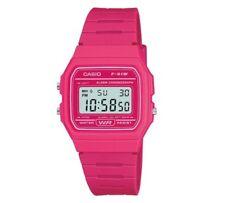 Casio Digital Watch 30M Water Resistant Pink Resin StrapQuartz Movement
