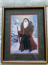 "HOME INTERIORS VICTORIAN SANTA PICTURE 12"" X 15"""