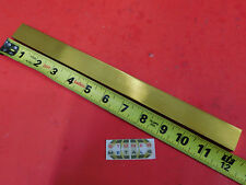 "3/8"" x 1"" C360 BRASS FLAT BAR 12"" long Solid Mill Stock H02 .375""x 1.00""x 12"""