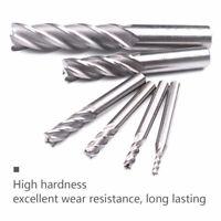 6pc HSS CNC Straight Shank 4 Flute Spiral Bit End Mill 1/8 3/16 1/4 5/16 5/8 1/2