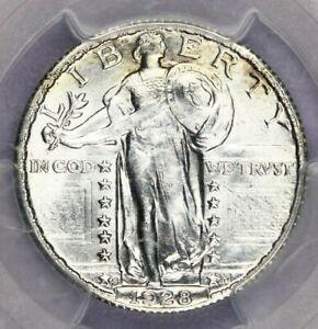 1928-S 1928 Standing Liberty Quarter PCGS MS64 CAC super lustrous!
