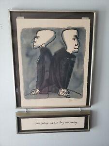 BEN SHAHN Original SIGNED Lithograph Rilke Portfolio PARTING RELATIONSHIP ENDS