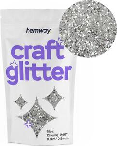 "Hemway Craft Glitter CHUNKY 1/40"" 0.025"" 0.6MM Powder Art Wine Glass Nails"