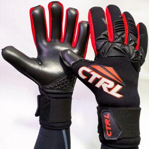 2020 CTRL PRO Contact Negative Cut Soccer Goalkeeper Goalie Gloves Black Red 9
