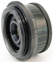 CLA'd 1979! INDUSTAR 50-2 50mm f/3.5 Pancake Lens w/ Adapter Canon EOS EF Mount
