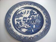"""Churchill England Blue Willow dinner plate 10.5"""" diameter -mint"""