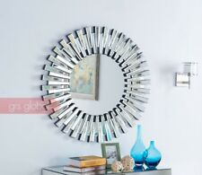 3D Sunburst Circular Wall Mirror Circular Design 90cm round Suits Any Room New