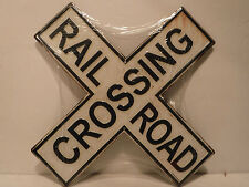 Black & White Railroad Crossing Embossed Metal Sign New Collectible Sign - New