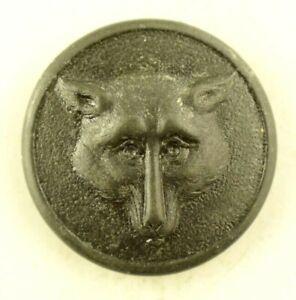 1830s-40s Fox Fox's Head Stippled Hunting Scene Coat Sporting Button P8C