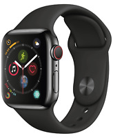 Apple Watch Series 4 40mm GPS + Cellular 4G LTE - Stainless Steel - Space Black