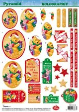 NON DIE CUT 3D DECOUPAGE FOR CARDS OR CRAFTS - POOH & PIGLET CHRISTMAS