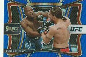 DEREK BRUNSON 2021 PANINI SELECT UFC BLUE PRIZM PARALLEL 46/49