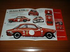 ★★1969 ALFA ROMEO GTA SPEC SHEET BROCHURE POSTER PRINT PHOTO INFO 69 RACING★★