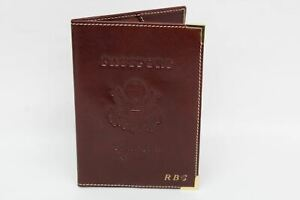Aspinal of London Orange Moc Croc Leather Passport Cover Retail £ 65
