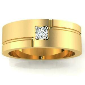 14K Yellow Gold Plated 0.68 Ct Moissanite Solitaire Engagement & Wedding Ring