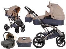 Knorr Baby 3in1 Kombi-Kinderwagen Voletto Sport + Autositz schwarz sand 3100-05