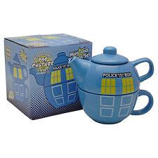 Doctor Who Tardis Théière Et Tasse Set Dr Who Police Box Théière Tasse Idée Cadeau