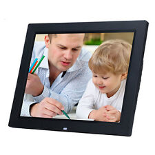 15 led black hd high resolution digital picture photo frame 8gb tf card