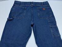 Men's Dickies Blue Jean Carpenter Pants Heavy Denim Size 40x34 Mint Condition