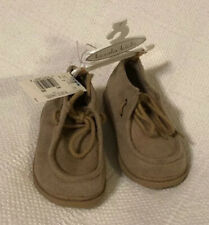 Koala Kids Suede Tan Moccasin Toddler Booties With Hard Sole - size 7