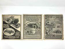 Three Sears Roebuck Racing Auto Parts Advertising Catalogs 1914-1915 Indy 500