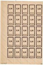Timbre fictif N° 43 en fragement de feuille de 25 timbres Neuf **