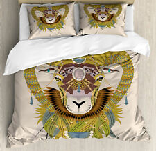 Goat Duvet Cover Set Twin Queen King Sizes with Pillow Shams